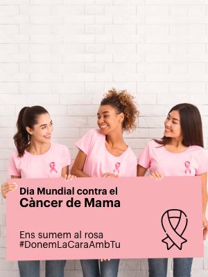 Ajuda a la lluita contra el càncer, #SúmatealRosa #DonemLaCaraAmbTu