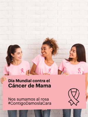 Ayuda a la lucha contra el cáncer, #SúmatealRosa #ContigoDamoslaCara