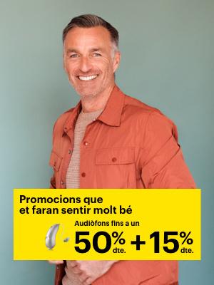 -15% dte. addicional en audiòfons, En tots els nostres centres