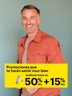 -15% dto. adicional en audífonos, En todos nuestros centros