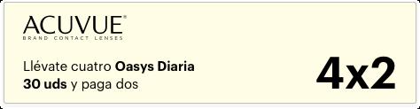 4x2 Acuvue Oasys Diaria 30uds