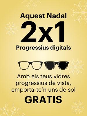 2x1 en Vidres Progressius Digitals, Progressius de vista + uns de sol gratis