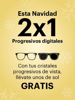 2x1 en Cristales Progresivos Digitales, Progresivos de vista + unos de sol gratis