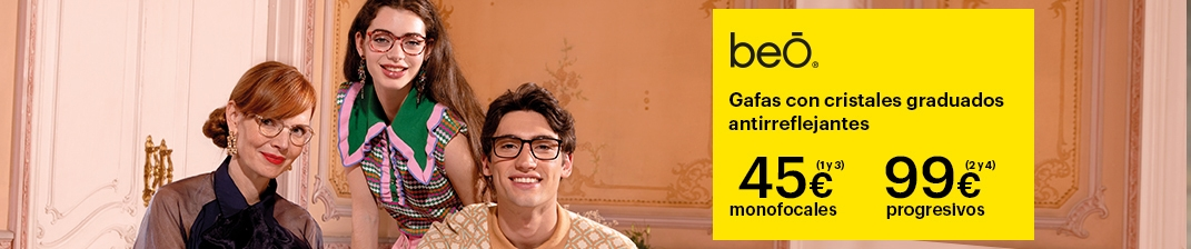 Gafas beO Graduadas + Cristal 45€