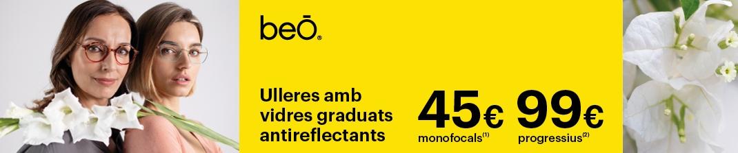 Ulleres beO Graduades + Vidres 45€