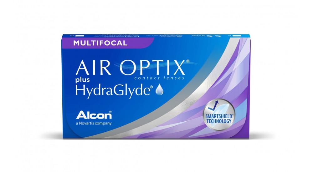 Caja lentillas AIR OPTIX PLUS HYDRAGLYDE MULTIFOCAL 6u.