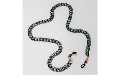 Cadena verde para gafas
