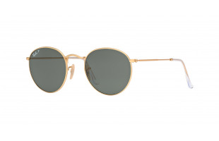 RAY-BAN ROUND METAL RB 3447 112/58 POLARIZADAS MATTE GOLD